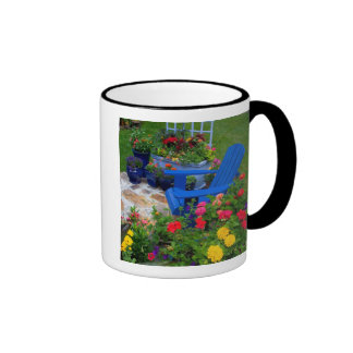 Container Garden design with blue chair in our Ringer Mug