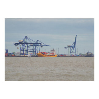 Container Port At Felixstowe Print