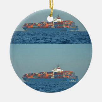 Container Ship APL CHILE Round Ceramic Decoration