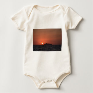 Container Ship At Dusk Baby Bodysuit