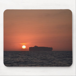 Container Ship At Dusk Mouse Pad