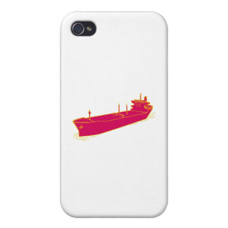 Container Ship Cargo Boat Mono Line Cover For iPhone 4