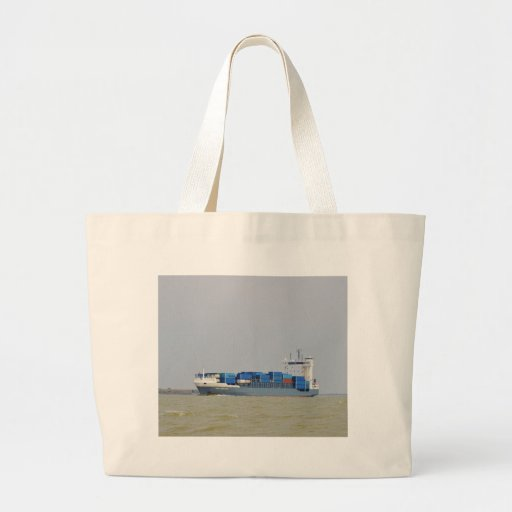 Container Ship Emily Borchard Tote Bags