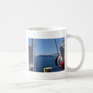 Container Ship Off Morocco Coffee Mug