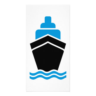 Container ship custom photo card