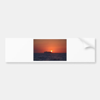 Container Ship Sunset Bumper Sticker