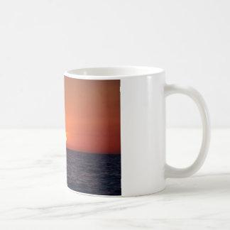 Container Ship Sunset Coffee Mug