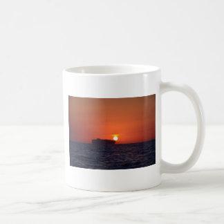 Container Ship Sunset Mug