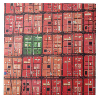 Containers in postage ceramic tile