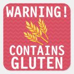 Contains Gluten Food Allergy Alert Stickers