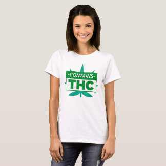 Contains THC For Weed Smoker T-Shirt