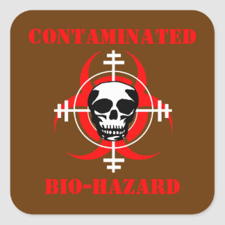 Contaminated Bio-Hazard Sticker  (ver. 2)