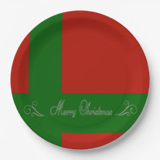 Contemorary Prensent Paper Plate-Merry Christmas 9 Inch Paper Plate