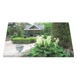 Contemplate the Garden Wrapped Canvas Canvas Print