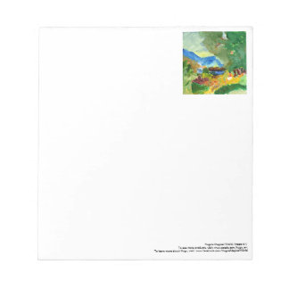Contemplating paradise notepad