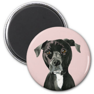 """Contemplating"" Pit Bull Dog Painting Magnet"