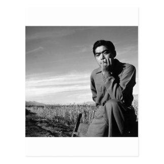Contemplation at Manzanar, 1943 Postcard