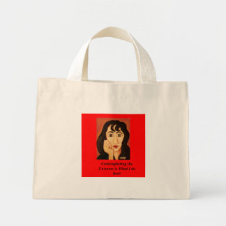 contemplation, Contemplating the Universe is Wh... Mini Tote Bag