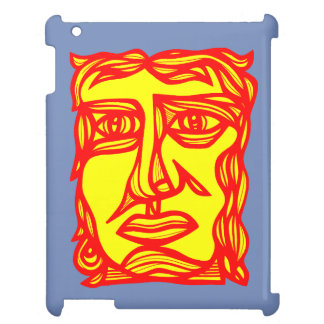"""""""Contemplation Face Yellow Red"""" iPad Case"""