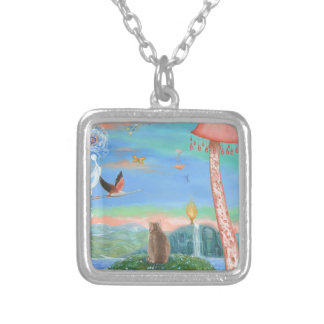 Contemplation Silver Plated Necklace