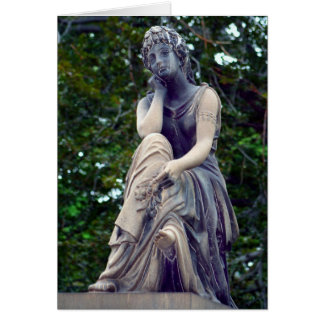 Contemplative Goddess Greeting Card