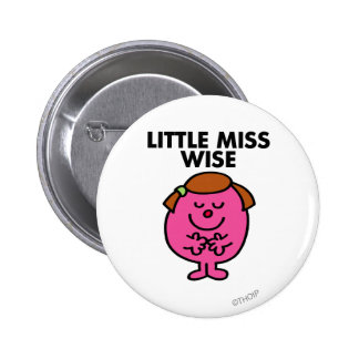 Contemplative Little Miss Wise 6 Cm Round Badge