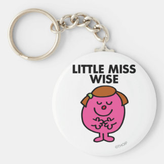 Contemplative Little Miss Wise Basic Round Button Key Ring