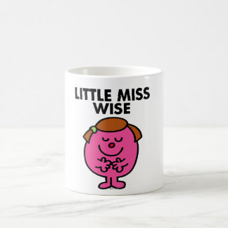 Contemplative Little Miss Wise Basic White Mug