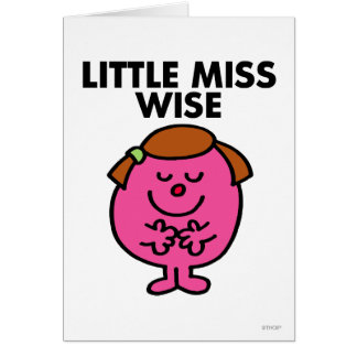 Contemplative Little Miss Wise Greeting Card