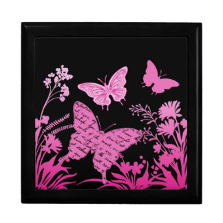 Contempo Butterflies....lidded box Large Square Gift Box