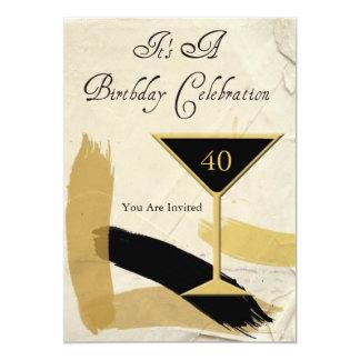 Contemporary 40th Birthday Party Invitations