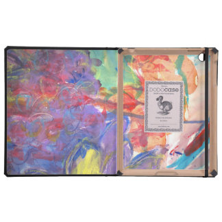 Contemporary Abstract Art Painting by Zona iPad Folio Cover