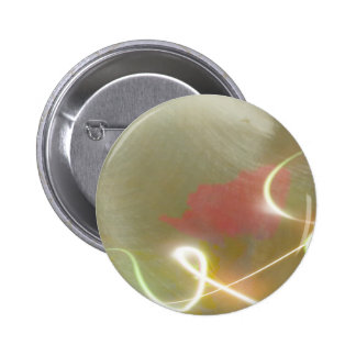 Contemporary  Abstract  Flower 6 Cm Round Badge