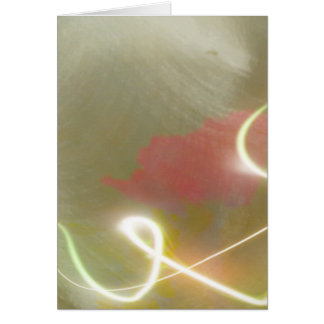 Contemporary  Abstract  Flower Greeting Card