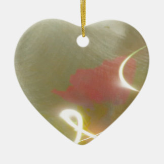 Contemporary  Abstract  Flower Ceramic Heart Decoration