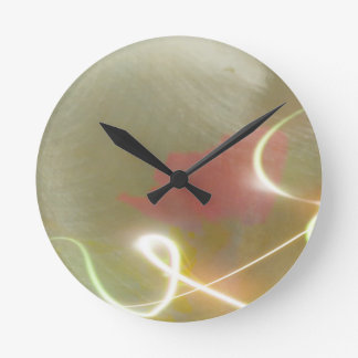 Contemporary  Abstract  Flower Clocks