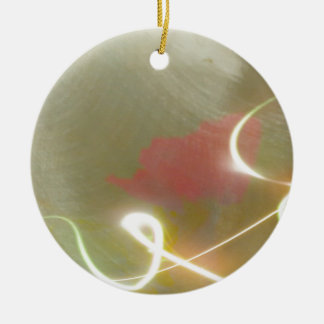 Contemporary  Abstract  Flower Round Ceramic Decoration