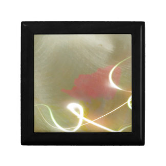 Contemporary  Abstract  Flower Small Square Gift Box