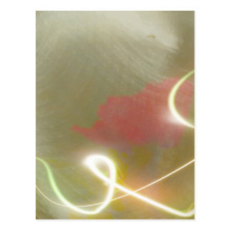 Contemporary  Abstract  Flower Postcard