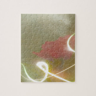 Contemporary  Abstract  Flower Puzzle