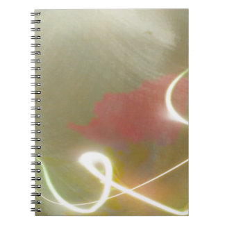 Contemporary  Abstract  Flower Spiral Notebook