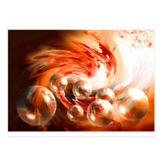Contemporary Abstract Postcard
