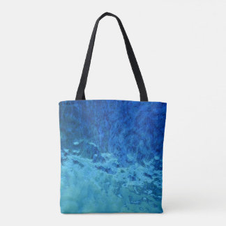contemporary abstract stained glass tote bag