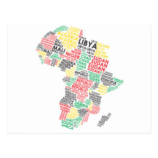 Contemporary African Word Map Postcard