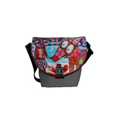 Contemporary Art Handbag Messenger Bags