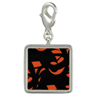Contemporary Art Orange / Black