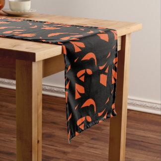 Contemporary Art Orange / Black Long Table Runner