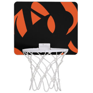 Contemporary Art Orange / Black Mini Basketball Hoop