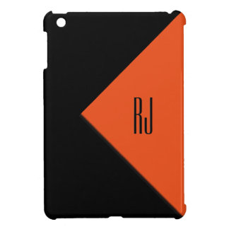 Contemporary Art Orange / Black Monogram Case For The iPad Mini