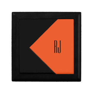 Contemporary Art Orange / Black Monogram Gift Box
